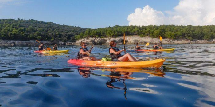 3 double seater kayaks