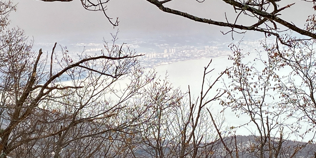 View on the city of Rijeka from the mountain